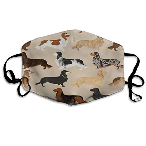 KZHPQ Long Haired Dachshunds Dogs GUOER Mask Can Be Washed Reusable Mask One Size Multiple Colors