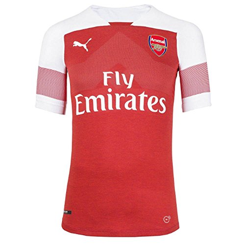 PUMA Arsenal FC 2018/19 Short Sleeve Home Jersey - Adult - Chilli Pepper Heather/White/Chilli Pepper - S