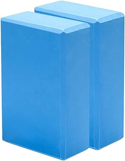 LDsports Yoga Block 9x6x3 High Density EVA Foam Brick Meditation Set of 2 Non-Slip Surface Soft and Light for Yoga Pilates