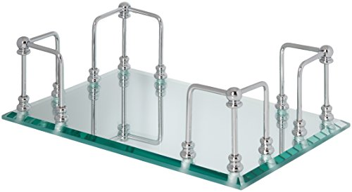 Organize It All Chrome Mirrored Guest Towel Tray