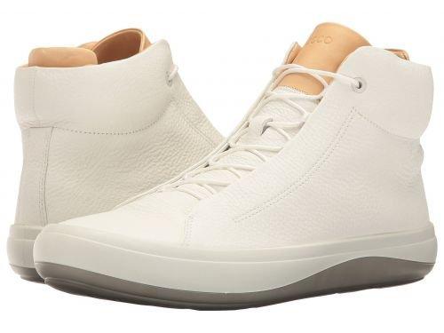 ECCO(エコー) メンズ 男性用 シューズ 靴 スニーカー 運動靴 Kinhin High Top - White/Veg Tan [並行輸入品] B07BDJKKJR
