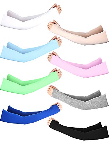 - Boao Unisex Sun Protection Arm Sleeves Modal Cotton Sunblock Glove Cooling Arm Sleeve (8 Colors D)