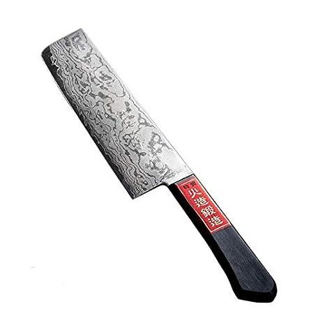 Amazon.com: honmamon VG10 Nakiri Hocho (cuchillo de cocina ...