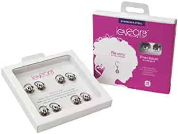 Levears Earring Lifts Stainless Steel Four Pairs