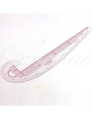 RZDEAL Regla de costura 3 en 1, sistema métrico, curva francesa, plástico para