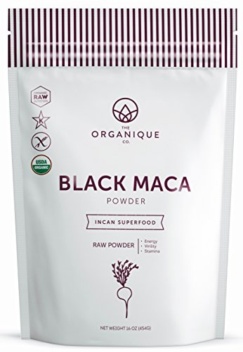 The Organique Co. Black Maca Root Powder - 16 Ounce - Certified Organic, Raw, Non-GMO Supplement - Energy, Female Fertility, Hormone Balance - Sustainably Sourced from Peru