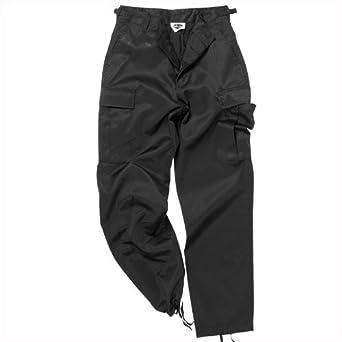 038398c88d4118 Mil-Tec BDU Ranger Combat Trousers Black size 5XL at Amazon Men's ...