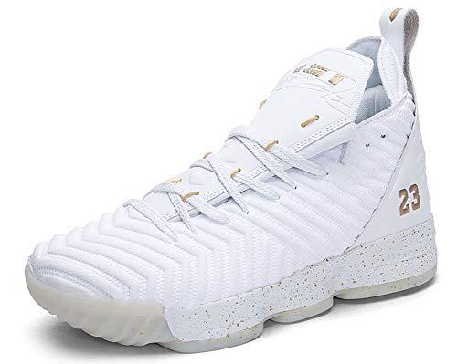 JIYE Men's Fashion Basketball Shoes Women's Breathable Upper Sneakers
