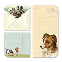 Cavallini 3-Pack Sticky Vintage Dogs Memo Pads by Cavallini Papers & Co., Inc.