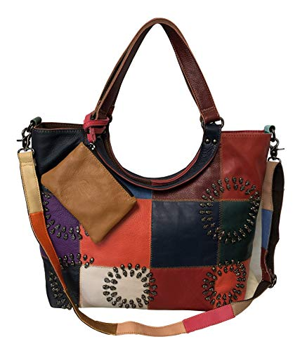 Amerileather Donovan Leather Tote Bag (#1932-8) ()
