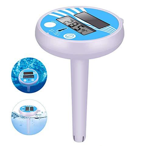 🥇 COMBLU Termómetro Digital Solar para Piscina