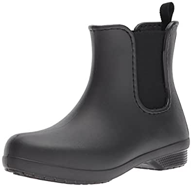 Crocs Women's Freesail Chelsea Boot, Black/Black, W6