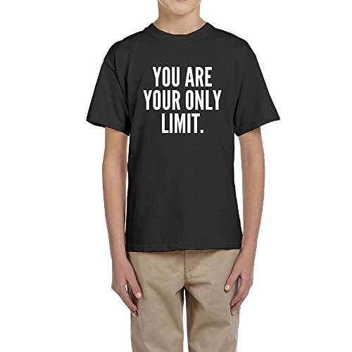 LingBer Youth You are Your ONLY Limit Kids Girls Boys Funny T-Shirt