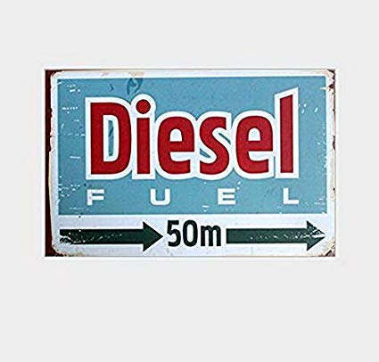 (Diesel Fuel Sold Here Vingtage Retro Gas and Oil Memorabilia Tin Sign Man Cave Bar Décor Cabin TSC198)