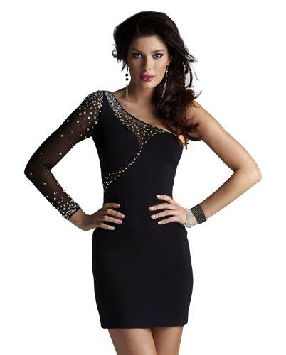 Dress Black Sleeve Cocktail 2254 Sheer Clarisse One Sheer wqAtI6