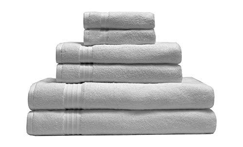 (Elite Home Products 100% Organic Cotton Towel 6-Piece Set)