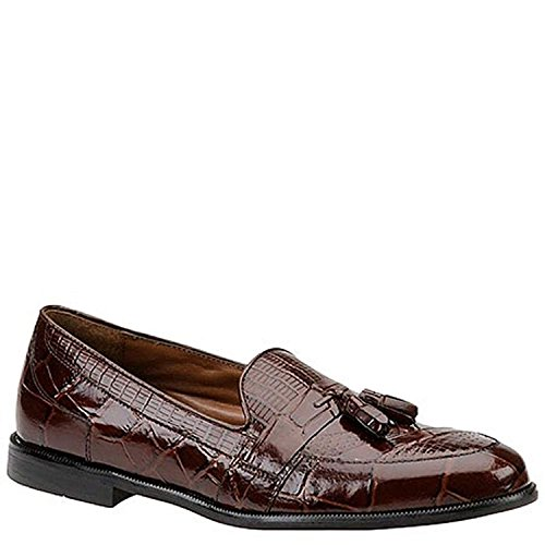 STACY ADAMS Mens Sabola Round Toe Slip On Shoes, Cognac-Snake, Size 12.0