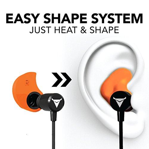 Decibullz - Custom-Fit Bluetooth Wireless Headphones, The First Custom Molded Wireless/Bluetooth Earphones (Orange) by Decibullz (Image #1)