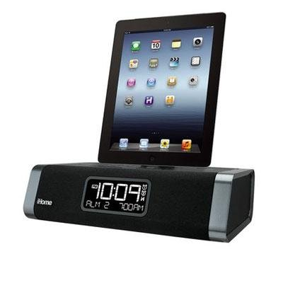iHome Dual-Charging Clock Radio for iPhone 5, 5s & 6, iPad (iDL45BC) - Black (Best Clock Radio For Iphone 5)