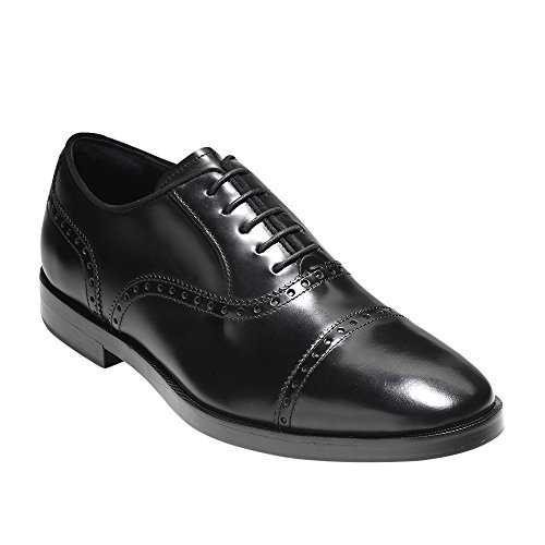 Cole Haan Mens Hamilton Grand Cap Oxford In Pelle Scatola Nera