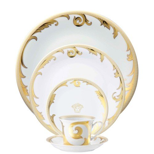 Versace by Rosenthal Arabesque Gold 5-Piece Dinnerware Place Setting, Service for - Dish Arabesque