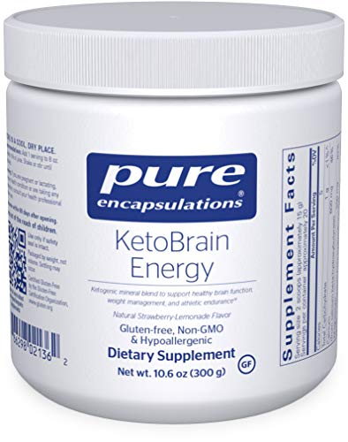 Pure Encapsulations – KetoBrain Energy – Hypoallergenic Supplement Supports Brain Function, Weight Management, and Athletic Endurance* – 300 Grams