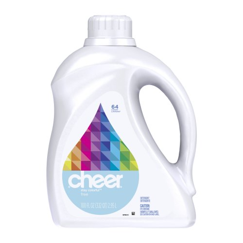 - Cheer 2x Ultra Liquid Free & Gentle 64 Loads 100 Fl Oz (Pack of 4)