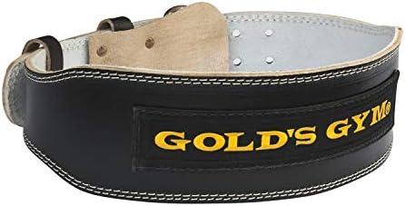 [スポンサー プロダクト]ゴールドジム(GOLD'S GYM) ブラックレザーベルトG3367