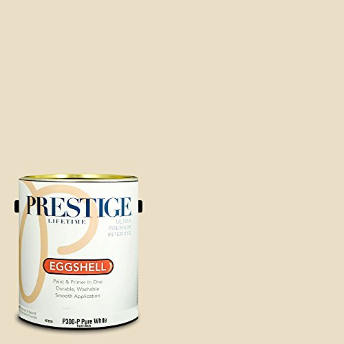 Prestige Paints Interior Paint and Primer In One, 1-Gallon, Eggshell,  Comparable Match of Benjamin Moore Barely Beige