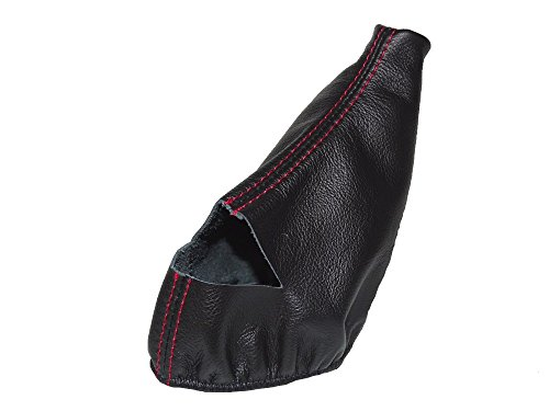 For Chevrolet Corvette C5 1997-2004 Automatic Shift Boot Black Genuine Leather Red Stitching