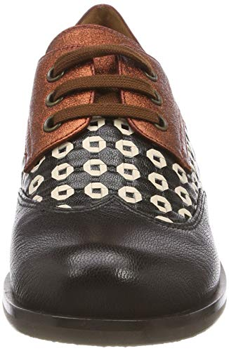 saigon Black Nero Stringate Arles Derby woven01 Donna Chie Mihara Xeste Negro Brick Scarpe AqvwpBHR