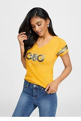 Buy guess women tops logo