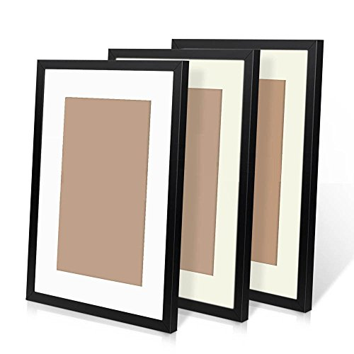 Without Photo 3pcs A3 Wooden Photo Frame Wall Hanging