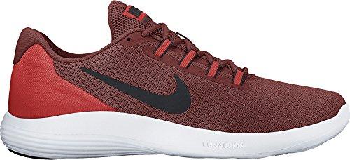 Nike Heren Lunarconverge Loopschoen Donkere Cayenne / Zwart / Max Oranje / Wit