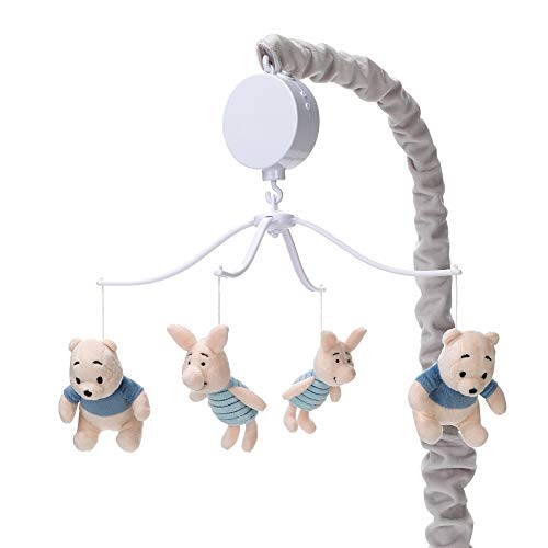 Lambs & Ivy Disney Baby Forever Pooh Bear Musical Baby Crib Mobile, Gray/Beige ()