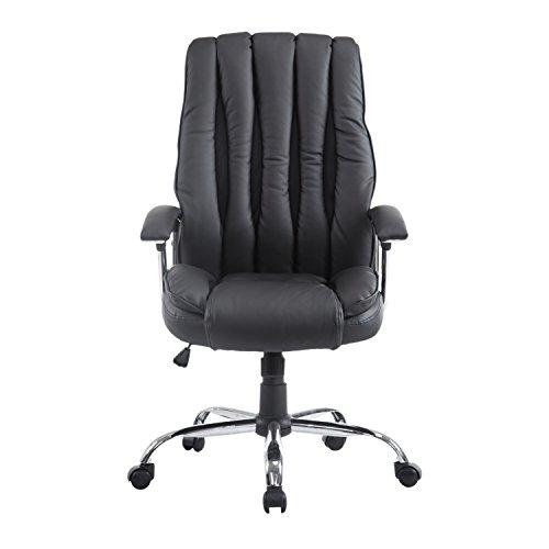 Padded Legrest (HomCom Ergonomic Adjustable Executive Swivel Computer Office Chair - Black)
