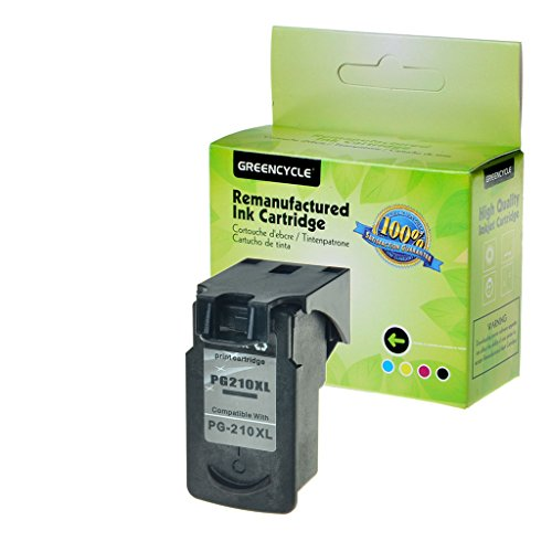 GREENCYCLE Remanufactured PG210 210XL Black Ink Cartridge Compatible with PG-210XL PIXMA iP2700 PIXMA iP2702 (1pack PG210XL)