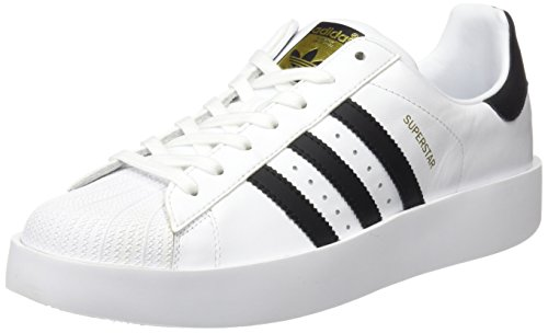 adidas Superstar Bold W, Zapatillas Para Mujer Blanco ((Ftwbla/Negbas/Dormet))