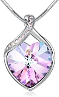 Angelady Love Guardian Heart Pendant Necklace Crystal from Swarovski,Gift for Women Birthday Anniversary