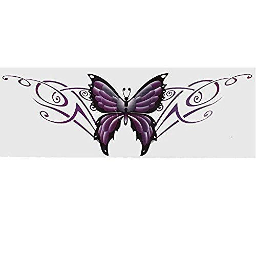 ZYHW Purple Auto Exterior Decorative Butterfly Design Blink Decal Sticker for car