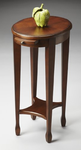 (Coventry Accent Table - Chestnut Burl Finish - Pedestal Table)