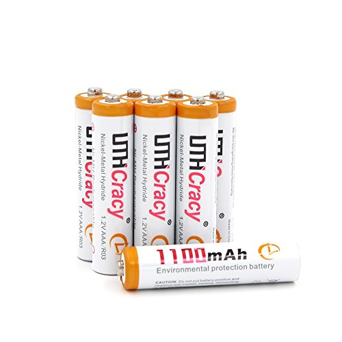 AAA 1100mAh Rechargeable Batteries Set (8 Pack)