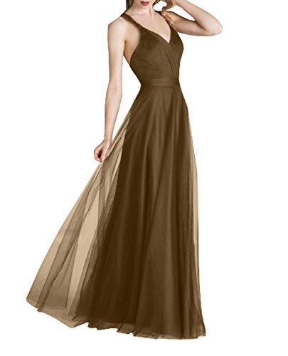 La Abendkleider Linie Festlichkleider Braun Lang Abschlussballkleider Brautjungfernkleider Elegant mia Ballkleider Brau A Tuell Rock IqOwFInrv