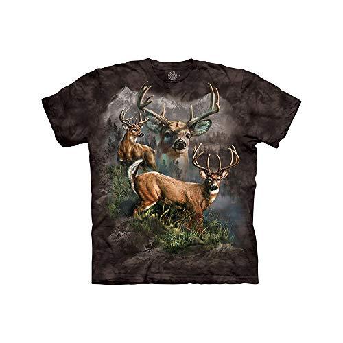 The Mountain Deer Collage Child T-Shirt, Black, - Deer Mountain