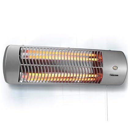 Tristar KA-5010 - Calefactor eléctrico para el baño con montaje en pared, cuarzo, 1200 W, color gris