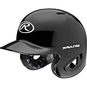 Rawlings 90 MPH College/High School Batting Helmet, Black, Large
