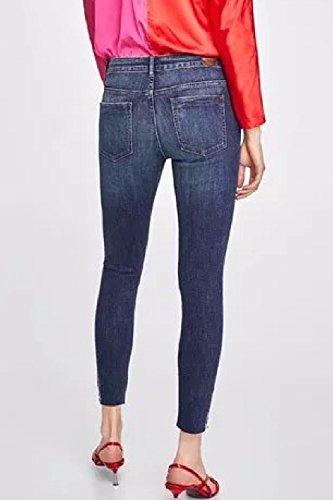 Base Blu Fit Donne Elasticizzati Vintage Le Jeans Slim Magre Jeans xRn0wWZfqP