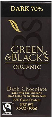 Green & Black's, Organic Chocolate Bar, 70% Cocoa, 3.5 oz - Cocoa Extra Dark Chocolate
