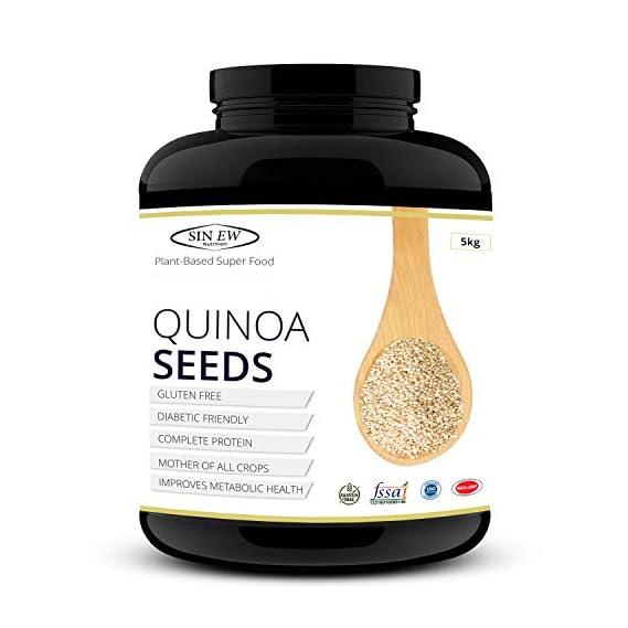 Sinew Nutrition Gluten Free White Quinoa Seeds, 5 kg