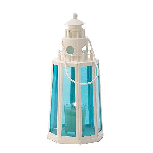 Ocean Blue Lighthouse Lamp Candle Wedding Centerpieces